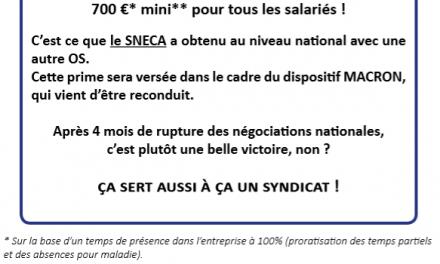 Important : Prime Macron